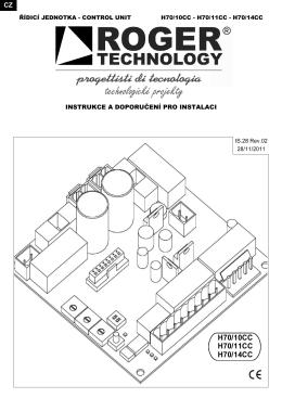 Instalační návod k pohonu M40 ke stažení ve formátu pdf