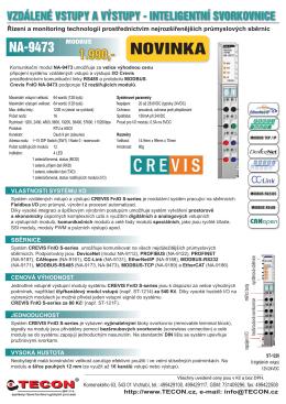 Přehled vlastností a cen CREVIS FnI/O S (c)