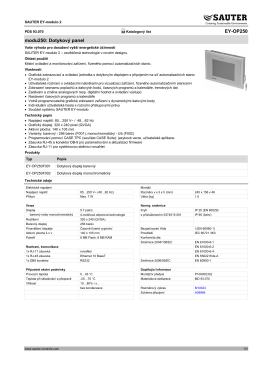 EY-OP250 modu250: Dotykový panel