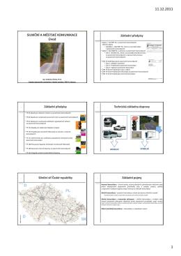 Základní pojmy, pozemní komunikace v intravilánu a extravilánu