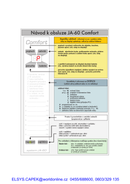 Uživatelský manuál ve formátu PDF