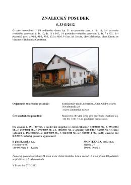 (122 2012 podíl RD + pozemky Javory Cendelín)