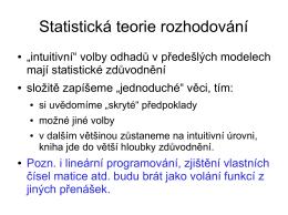 Statistická teorie rozhodování