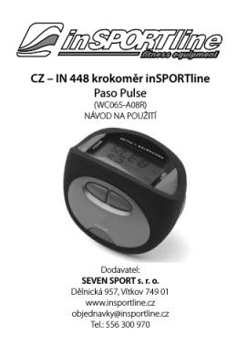 CZ – IN 448 krokoměr inSPORTline Paso Pulse