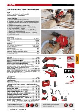 DCG 125-S / DEG 125-P úhlová bruska