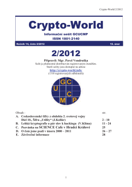 Crypto-World - Personal page: Vlastimil Klima