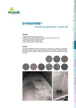 Prospekt Porézní desky Dynapore