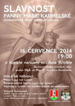 slavnost panny marie karmelské