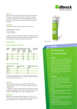 Chemická kotva pro vysokou zátěž OT130