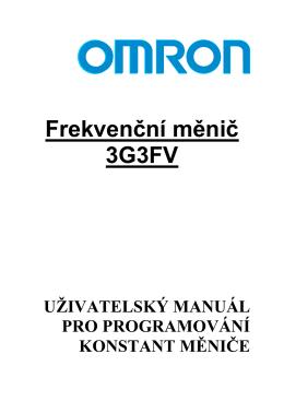 Frekvenční měnič 3G3FV