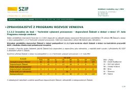 I.1.2.2 Investice do lesů – Technické vybavení provozoven
