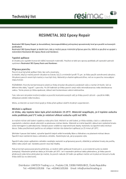 RESIMAC Resimetal 302 Epoxy Repair Cement