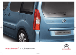 Katalog příslušenství Citroën Berlingo Multispace