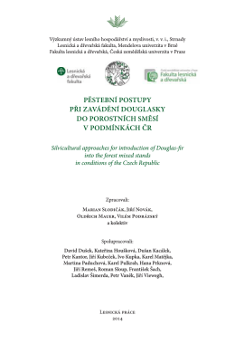 Vliv douglasky na stav lesních fytocenóz
