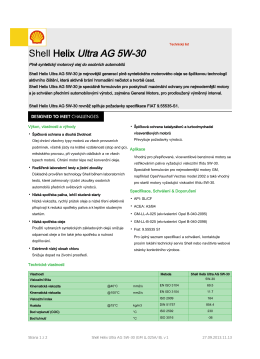 Shell Helix Ultra AG 5W-30