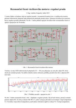 Rezonanční řízení vícefázového motoru s regulací prudu
