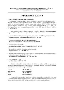 INFORMACE č.1/2010