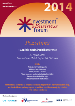 Pozvánka - Sdružení pro rozvoj Moravskoslezského kraje