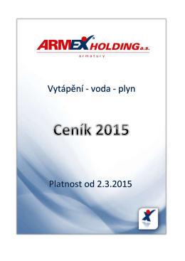 ceník armex 2015