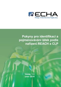 Pokyny pro identifikaci a pojmenovávání látek - ECHA