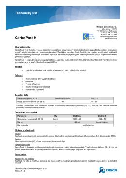 Technický list CarboPast H