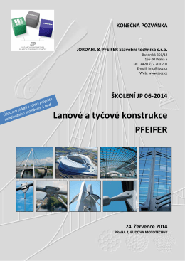 Titulni list JP 06-2014 - Jordahl & Pfeifer Stavební technika, sro