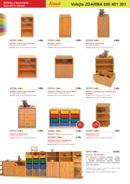 Nábytek pro MŠ s barevnými hranami