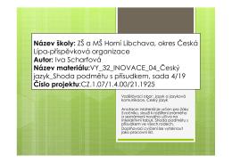 VY_32_INOVACE _04 19_Český jazyk _Shoda pod. s přísud., 5