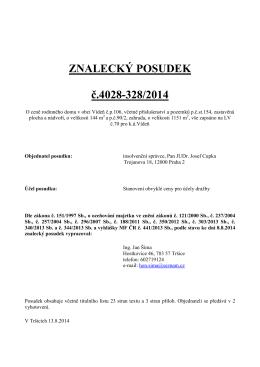 ZNALECKÝ POSUDEK č.4028-328/2014