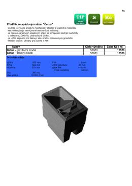 Ceník 2014 rybniční filtrace