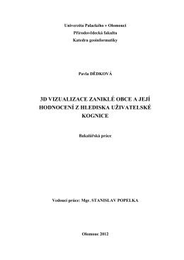 Text práce - Katedra geoinformatiky