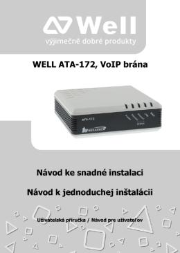 WELL ATA-172, VoIP brána