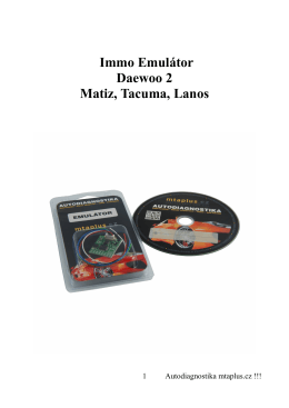 Immo Emulátor Daewoo 2 Matiz, Tacuma, Lanos