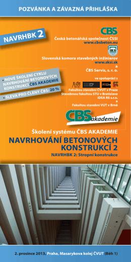 Pozvánka ke školení - Česká betonářská společnost ČSSI