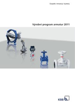 Výrobní program armatur 2011