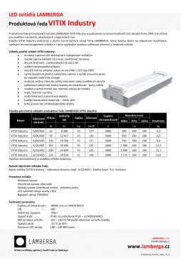 LED svítidla LAMBERGA Produktová řadaVITIX Industry www