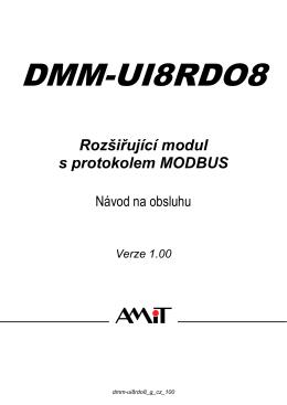 DMM-UI8RDO8 - návod na obsluhu