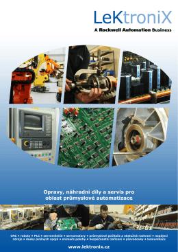 Opravy, náhradní díly a servis pro oblast průmyslové