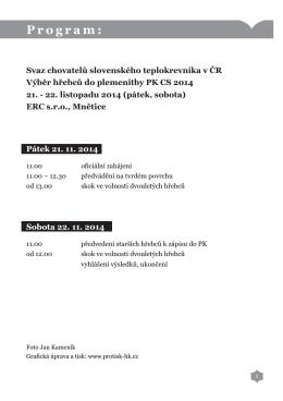 Katalog na Výběr hřebců do plemenitby PK CS 2014.