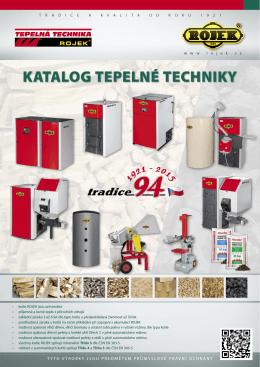 KATALOG TepeLné TechniKy