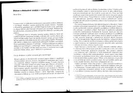 Diskurzivní analýza v sociologii