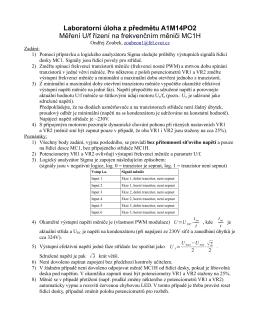 Laboratorní úloha z předmětu A1M14PO2 Měření U/f řízení na
