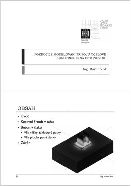 Vild M., Pokročilé modelování přípojů ocelové konstrukce na
