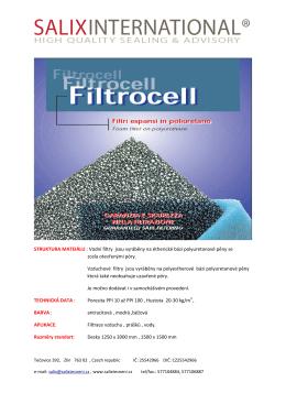 Katalog filtrocell