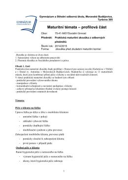 MT PrZk 5G 2015 - Gymnázium a Střední odborná škola Moravské