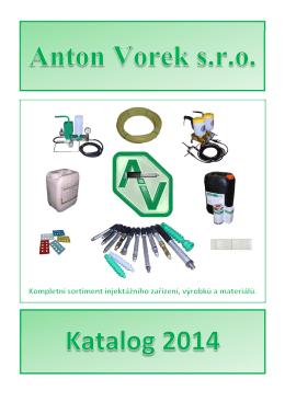 katalog ANTON VOREK 2014