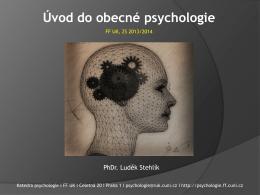 Historie studia lidské mysli Kognitivní psychologie