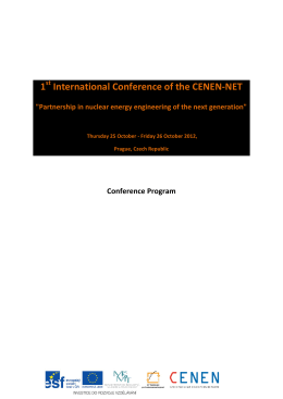 1 International Conference of the CENEN-NET