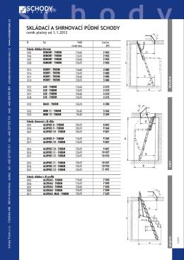 Ceník skládacích půdních schodů 2012