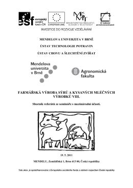 Sborník 2011 – Farmářská výroba